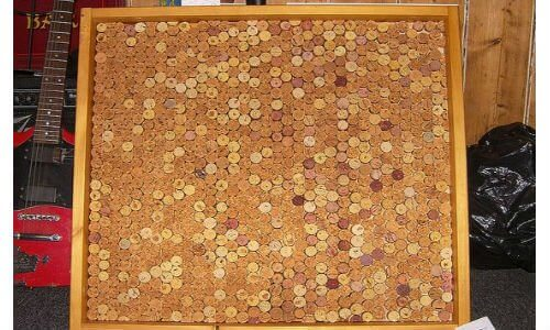 "How to make a wine cork board ""Corkboard - finally finished"" 