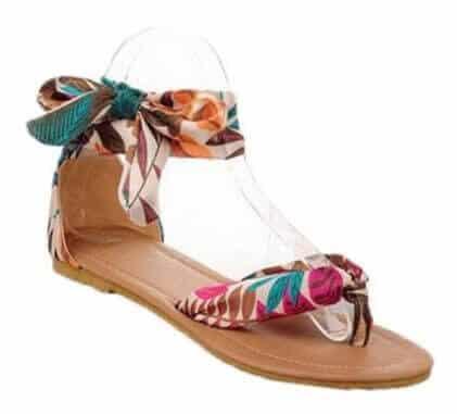 ribbon ankle wrap shoes via amazon.com Merchand
